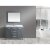 "Design Element London 48"" Single Sink Vanity Set with Wall Mirror in Gray and White Carrera Marble Countertop, 48"" W x 22"" D x 36"" H"