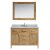 "Design Element London 48"" Single Sink Vanity Set with Wall Mirror in Honey Oak and White Carrera Marble Countertop, 48"" W x 22"" D x 36"" H"