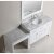 """White 48"""" Single Sink Vanity Set w/ Make-Up Table Product View 2"""