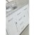 """White 48"""" Single Sink Vanity Set w/ Make-Up Table Product View 3"""