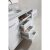 """White 48"""" Single Sink Vanity Set w/ Make-Up Table Product View 6"""