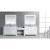 """White 48"""" Double Sink (2) Vanities w/ Make-Up Table"""