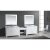 """White 48"""" Double Sink (2) Vanities w/ Make-Up Table Product View 1"""