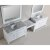 """White 48"""" Double Sink (2) Vanities w/ Make-Up Table Product View 2"""