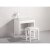 """White 48"""" Double Sink (2) Vanities w/ Make-Up Table Product View 3"""