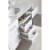 """White 48"""" Double Sink (2) Vanities w/ Make-Up Table Product View 6"""