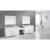 """White 48"""" Double Sink (2) Vanities w/ Make-Up Table Product View 7"""