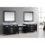 """Espresso 48"""" Double Sink (2) Vanities w/ Make-Up Table Product View 8"""