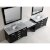 """Espresso 48"""" Double Sink (2) Vanities w/ Make-Up Table Product View 1"""