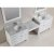 "White 36"" Double Sink Product View 2"