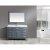 "Gray 54"" Vanity Set w/ Wall Mirror"