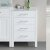 "Design Element London 20"" Side Cabinet in White, 20"" W x 22"" D x 32"" H"