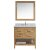 "Honey Oak 36"" Carrera Top Vanity Set w/ Wall Mirror"