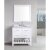 "White 36"" Carrera Top Vanity Set w/ Wall Mirror"
