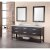 """Design Element London 72"""" Double Sink Vanity Set with (2) Wall Mirrors in Espresso and White Carrera Marble Top, 72"""" W x 22"""" D x 36"""" H"""