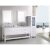 """Design Element London 72"""" Double Sink Vanity Set with (2) Wall Mirrors in White and White Carrera Marble Top, 72"""" W x 22"""" D x 36"""" H"""