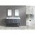 "Design Element London 61"" Double Sink Vanity Set with (2) Wall Mirrors in Gray, Open Bottom and White Carrera Marble Top, 61"" W x 22"" D x 34"" H"