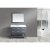 """Design Element London 48"""" Single Sink Vanity Set with Wall Mirror in Gray and White Carrera Marble Top, 48"""" W x 22"""" D x 34"""" H"""