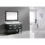"""Design Element London 54"""" Single Sink Vanity Set with Wall Mirror in Espresso and White Carrera Marble Top, 54"""" W x 22"""" D x 34"""" H"""