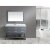 """Design Element London 54"""" Single Sink Vanity Set with Wall Mirror in Gray and White Carrera Marble Top, 54"""" W x 22"""" D x 34"""" H"""