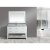 """Design Element London 54"""" Single Sink Vanity Set with Wall Mirror in White and White Carrera Marble Top, 54"""" W x 22"""" D x 34"""" H"""