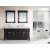 """Design Element Marcos 72"""" Double Sink Vanity Set with (2) Wall Mirrors in Espresso and Carrera White Marble Countertop, 72"""" W x 22"""" D x 34"""" H"""