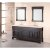 """Design Element Marcos 72"""" Double Sink Vanity Set with (2) Wall Mirrors in Espresso and Crema Marfil Marble Countertop, 72"""" W x 22"""" D x 34"""" H"""
