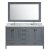 "Gray 61"" Carrera Top Vanity Set w/ Wall Mirror"