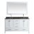 "White 61"" Gray Quartz Top Vanity Set w/ Wall Mirror"