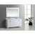 "White 61"" Carrera Top Vanity Set w/ Wall Mirror"