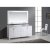 "White 72"" Carrera Top Vanity Set w/ Wall Mirror"