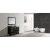 "Espresso 48"" Gray Quartz Top Vanity Set w/ Wall Mirror"