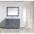 "Gray 48"" Carrera Top Vanity Set w/ Wall Mirror"