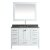 "White 48"" Gray Quartz Top Product View 1"