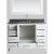"White 48"" Gray Quartz Top Product View 4"