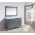 "Gray 54"" Carrera Top Vanity Set w/ Wall Mirror"