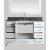 "White 54"" Gray Quartz Top Product View 4"