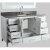 "White 54"" Gray Quartz Top Product View 5"