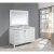 "White 54"" Carrera Top Vanity Set w/ Wall Mirror"