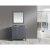 "Gray 36"" Gray Quartz Top Vanity Set w/ Wall Mirror"