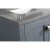 "Gray 36"" Gray Quartz Top Product View 1"