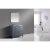 "Gray 36"" Gray Quartz Top Product View 3"