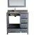 "Gray 36"" Gray Quartz Top Product View 5"