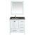 "White 36"" Gray Quartz Top Product View 1"