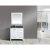 "White 36"" Gray Quartz Top Vanity Set w/ Wall Mirror"