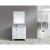 """White 36"""" White Carrera Top Vanity Set w/ Wall Mirror"""