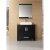"Design Element Washington 36"" Single Sink Vanity Set with Wall Mirror in Espresso, 36"" W x 22"" D x 31"" H"