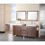 "Design Element Washington 72"" Double Sink Vanity Set with (2) Wall Mirrors in Toffee, 71"" W x 22"" D x 31"" H"