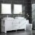 "Design Element Washington 72"" Double Sink Vanity Set in White with (2) Matching Wall Mirrors, 71-3/4"" W x 21-1/2"" D x 33"" H"