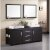 "Design Element Washington 72"" Double Sink Vanity Set with (2) Wall Mirrors in Espresso, 71"" W x 22"" D x 31"" H"